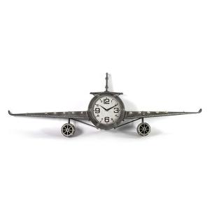 klok Fokker 143 x 20 x 46 cm staal grijs