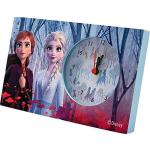klok Frozen II meisjes 18 cm blauw