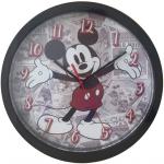 klok Mickey Mouse junior 25 cm rood/grijs