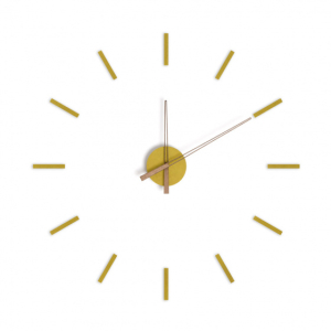 wandklok 100 cm hout geel