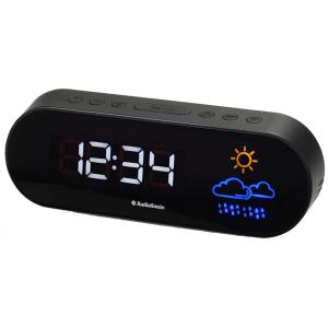 wekkerradio Audio Sonic 29 x 8 x 20 cm zwart